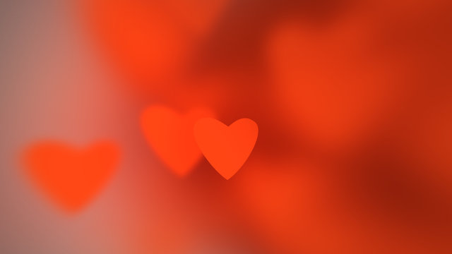 Hearts with depth of field, Valentine's Day background