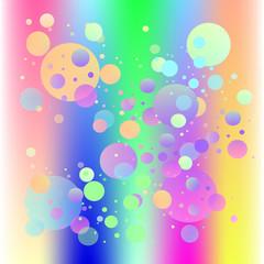 bright bubbles vector background rainbow