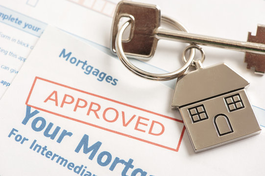 Mortgage Approved Loan Document With House Keys