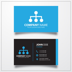 Structure sign icon. Business card vector template.