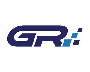 GR digital letter logo