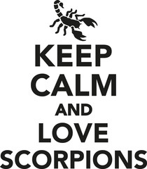 Keep calm and love scorpions