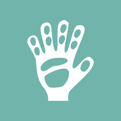 Goalie gloves icon