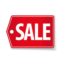 Sale pricetag red vector