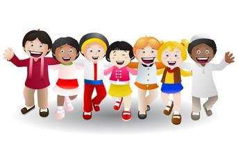 various culture children