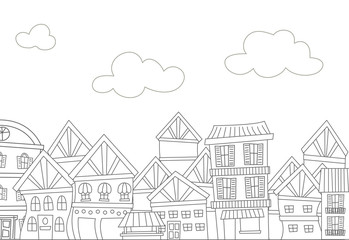 Coloring Page Apartments