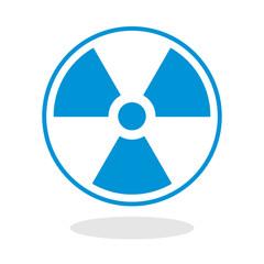 Icon of a radioactive symbol