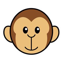 Simple Cartoon Of A Cute Monkey