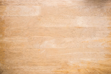 Top view, wooden table Wall mural