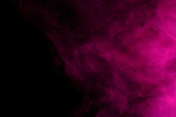 Abstract purple smoke hookah.