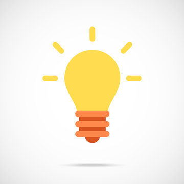 Vector lightbulb icon. Modern flat design vector illustration