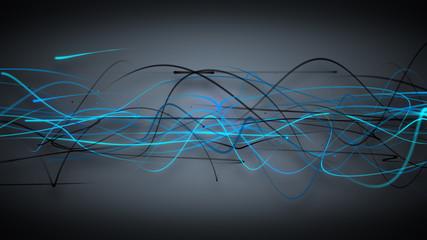 dark blue curved lines background
