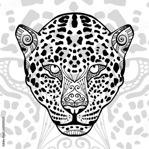 The Black And White Leopard Print With Ethnic Zentangle Patterns Beauteous Zentangle Patterns To Print