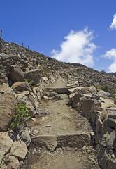 Trail at Haleakala volcano  Maui, Hawaii