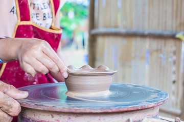 Hand made of clay pot