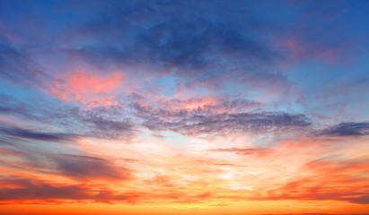 Sunset sky over the sea Fototapete