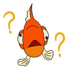 Canvas Prints Fairytale World vector cartoon character fish forgoten