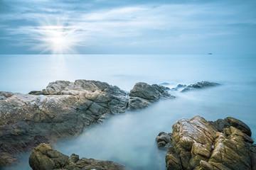 sea rocks closeup