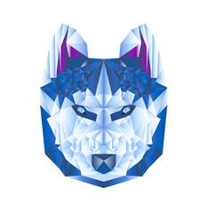 wolf poligon blu