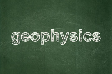 Science concept: Geophysics on chalkboard background