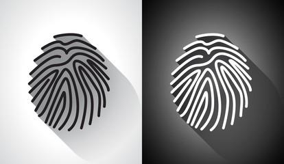 Fingerprint in a flat design