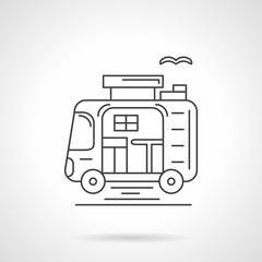 Camping car thin line vector icon.