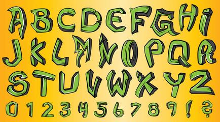graffiti style font alphabet
