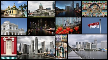 Singapore - travel photo collage