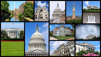 Washington DC - travel photo collage