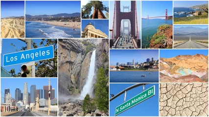 California - travel photo collage