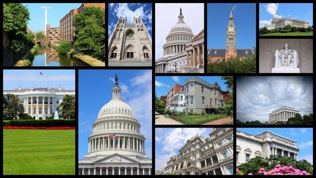 Washington DC - travel photo collage