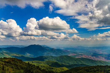 Mountains view from the top at Chiang Mai, Thailand