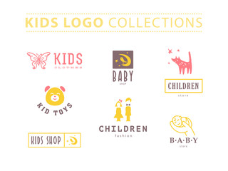 Set of baby logo.