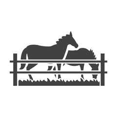 horses black simple icon on white background for web