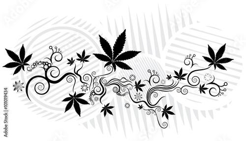 Marijuana Cannabis Leaf Symbol Background Vector Illustration Stock