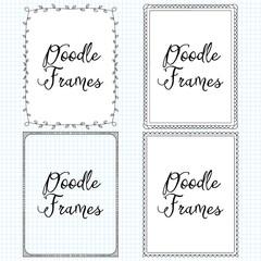 Vector Hand Drawn Doodle Border Frames Set