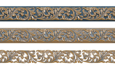 Decorative pattern with gold patina