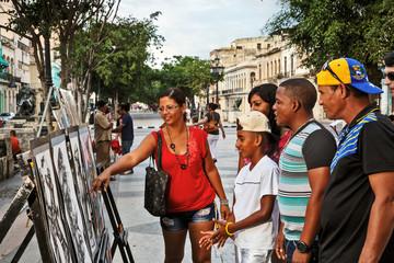 Cuba, La Habana, Art at Paseo de Martí (Prado)