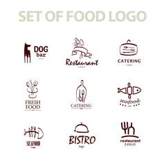 Food logo templates design.