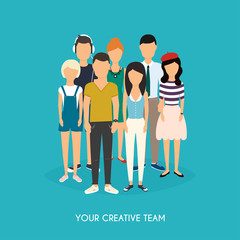 Your creative team. Business Team. Teamwork. Social Network and