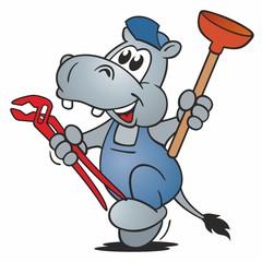 Hippo Plumber running
