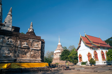 The Maha Chedi of Wat Chet Yot temple in Chaing Mai,Thailand.