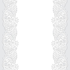Vector seamless pattern with floral lace