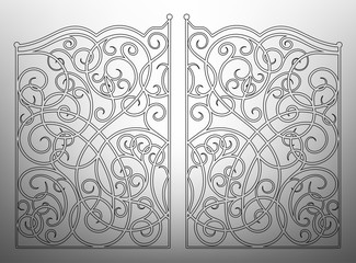 Beautiful iron ornament gates