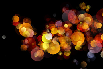 Abstract background colourful bokeh circles.