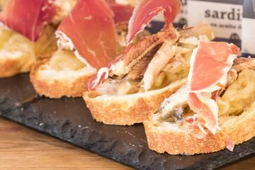 Tapa Spanish jabugo ham