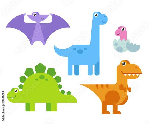 Cute Cartoon Dinosaurs