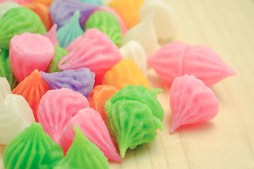 Aalaw thai candy dessert with filter effect retro vintage style