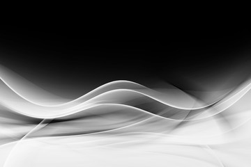 Wall Mural - Abstract Black White Wave Design Background