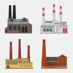 Factory vector flat set